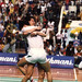 Soo Beng Kiang and Cheah Soon Kit can't hide their joy after clinching the winning point for Malaysia. May 16,1992