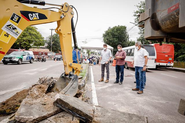 25.03.21 - Prefeitura de Manaus inicia nova revitalização na Djalma Batista