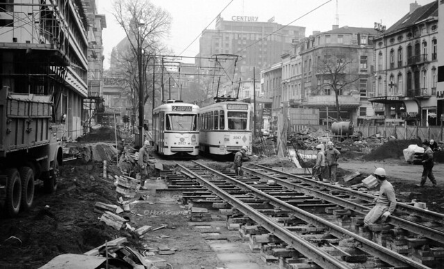 Working on the tramway