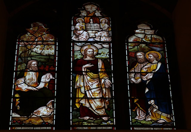 Stained Glass -St Dionysius Church - Market Harborough Leics -170819 (19)