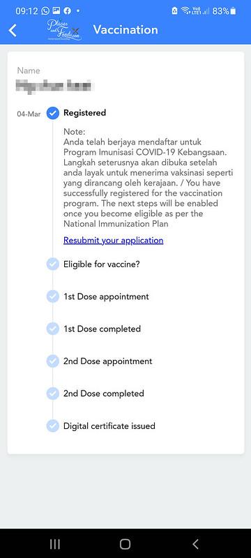 mysejahtera covid 19 registration confirmation