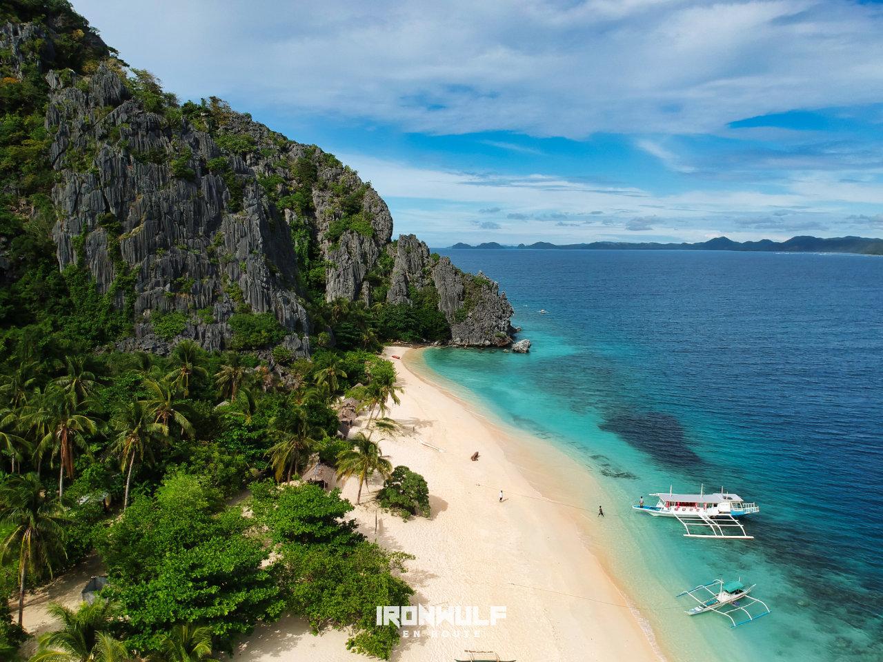 Malajon island also known as the Black Island