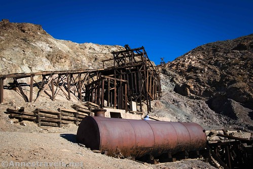 The mill site at the Keane Wonder Mine, Death Valley National Park, California