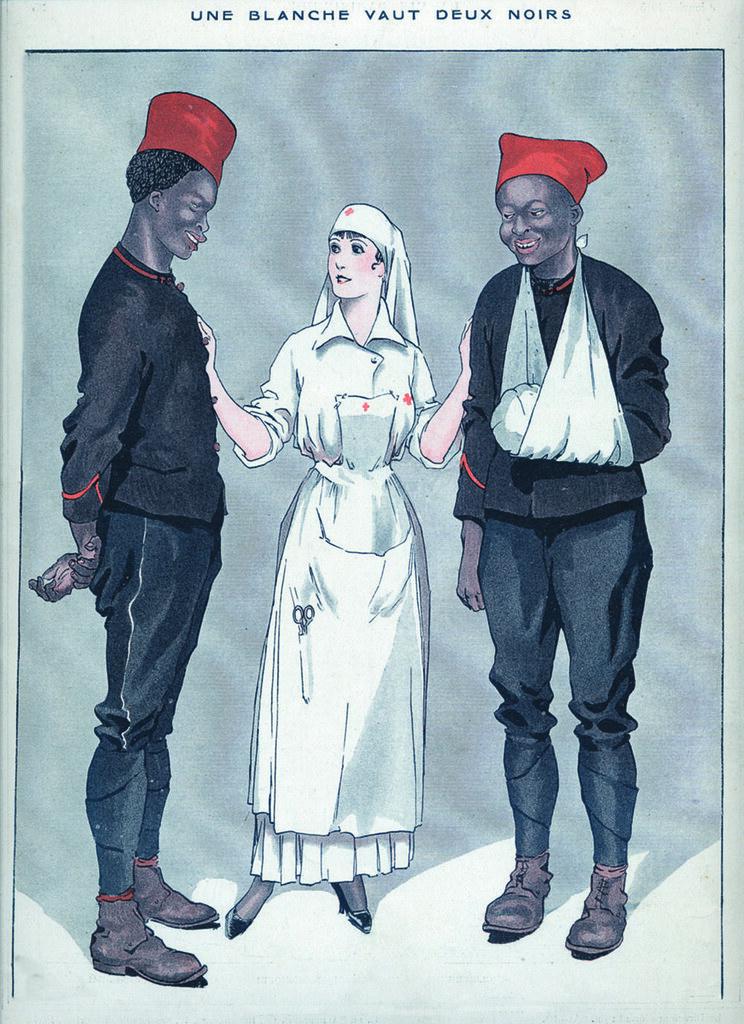 1915 9 janvier01 une blanche vaux deux noirs