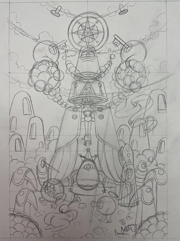 le roi crayonné
