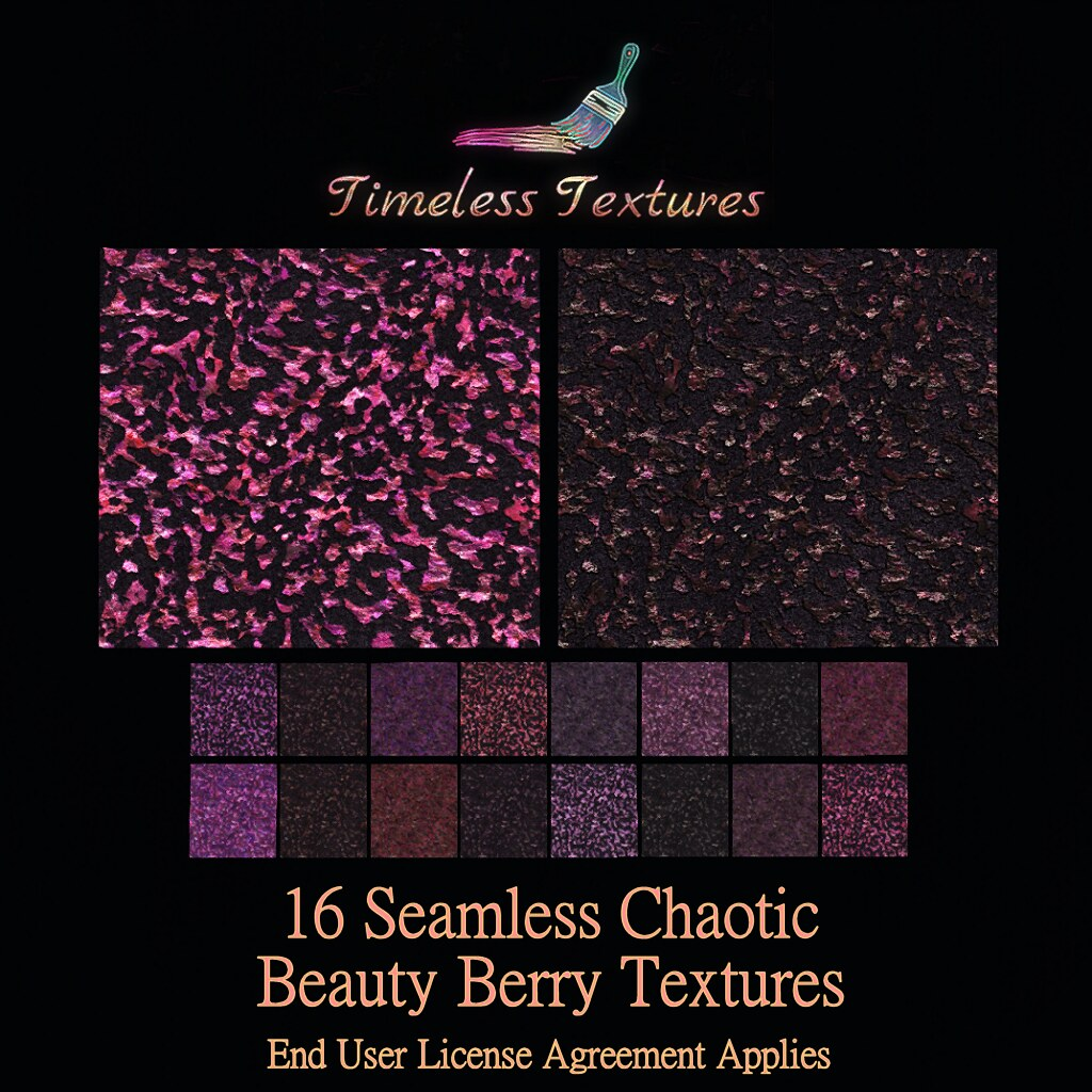 TT 16 Seamless Chaotic Beauty Berry Timeless Textures