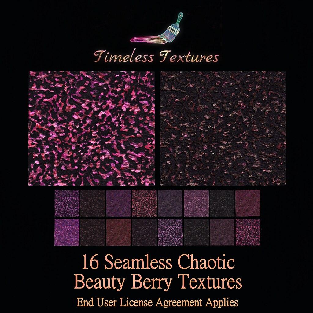 TT 16 Seamless Chaotic Beauty Berry Timeless Textures