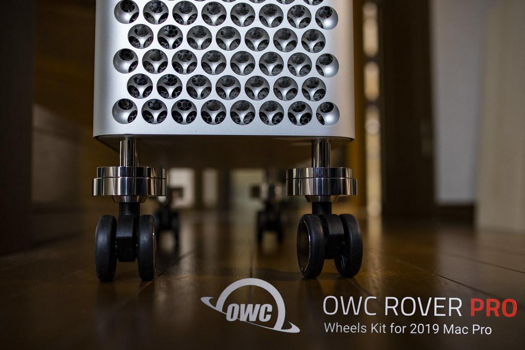 Mac Pro に車輪を。着脱容易なホイールキット:OWC ROVER PRO