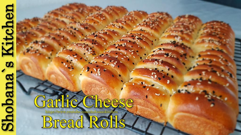 Garlic Cheese Dinner Rolls - Supper soft & delicious Garlic Buns