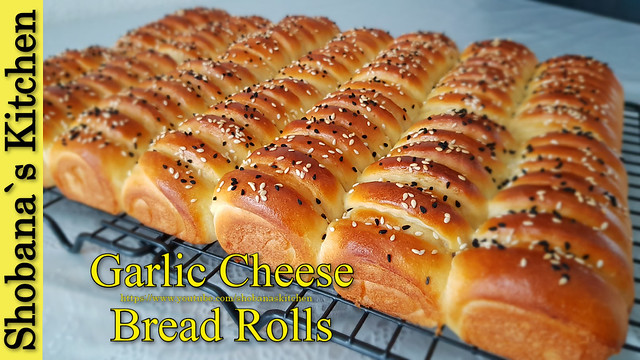 Garlic Cheese Dinner Rolls - Supper soft & delicious Garlic Buns