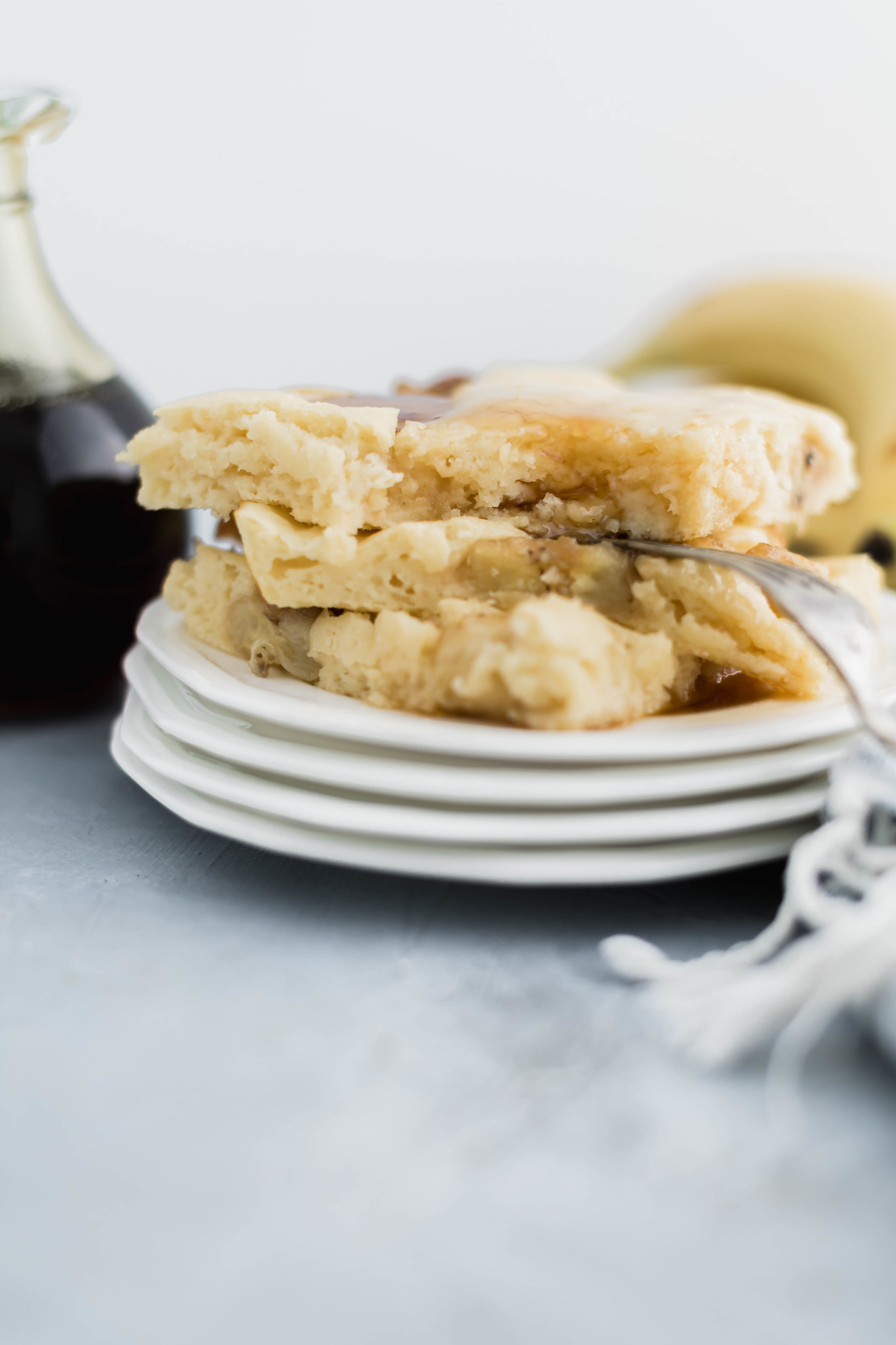 Get your pancakes made in a flash with this fun method. Sheet Pan Pancakes with Caramelized Bananas will quickly become a breakfast favorite. A perfect freezer friendly breakfast.