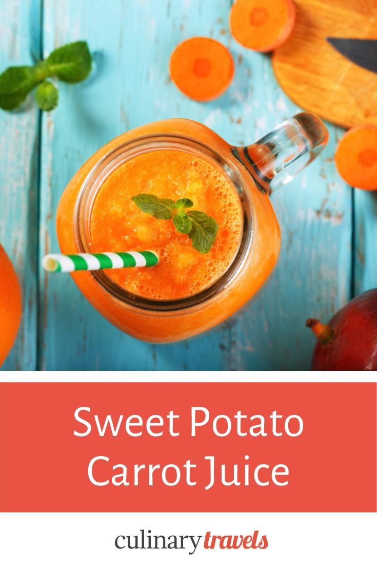 Sweet potato and carrot juice