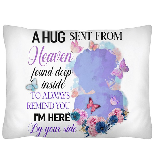 A hug sent from heaven found deep inside to always Indoor Pillow