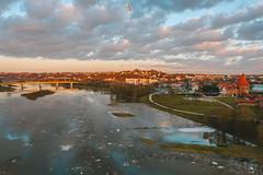 Spring flood | Kaunas aerial
