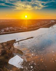 Spring flood | Kaunas aerial #61/365
