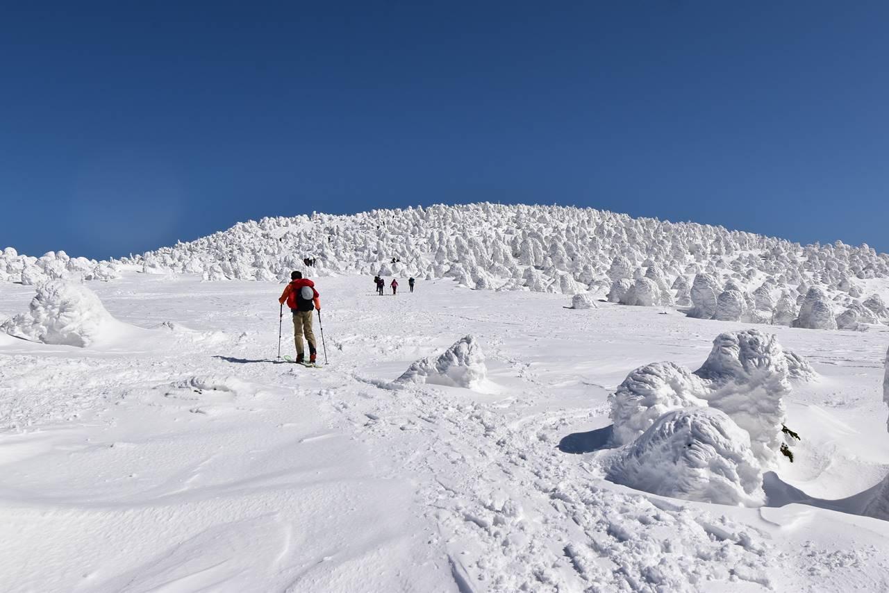 西吾妻山と樹氷の森
