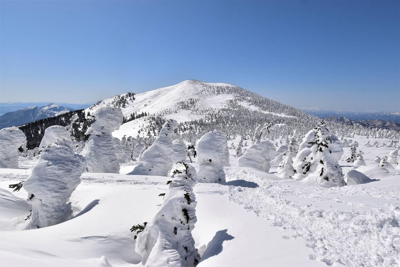 樹氷・スノーモンスターと西大巓