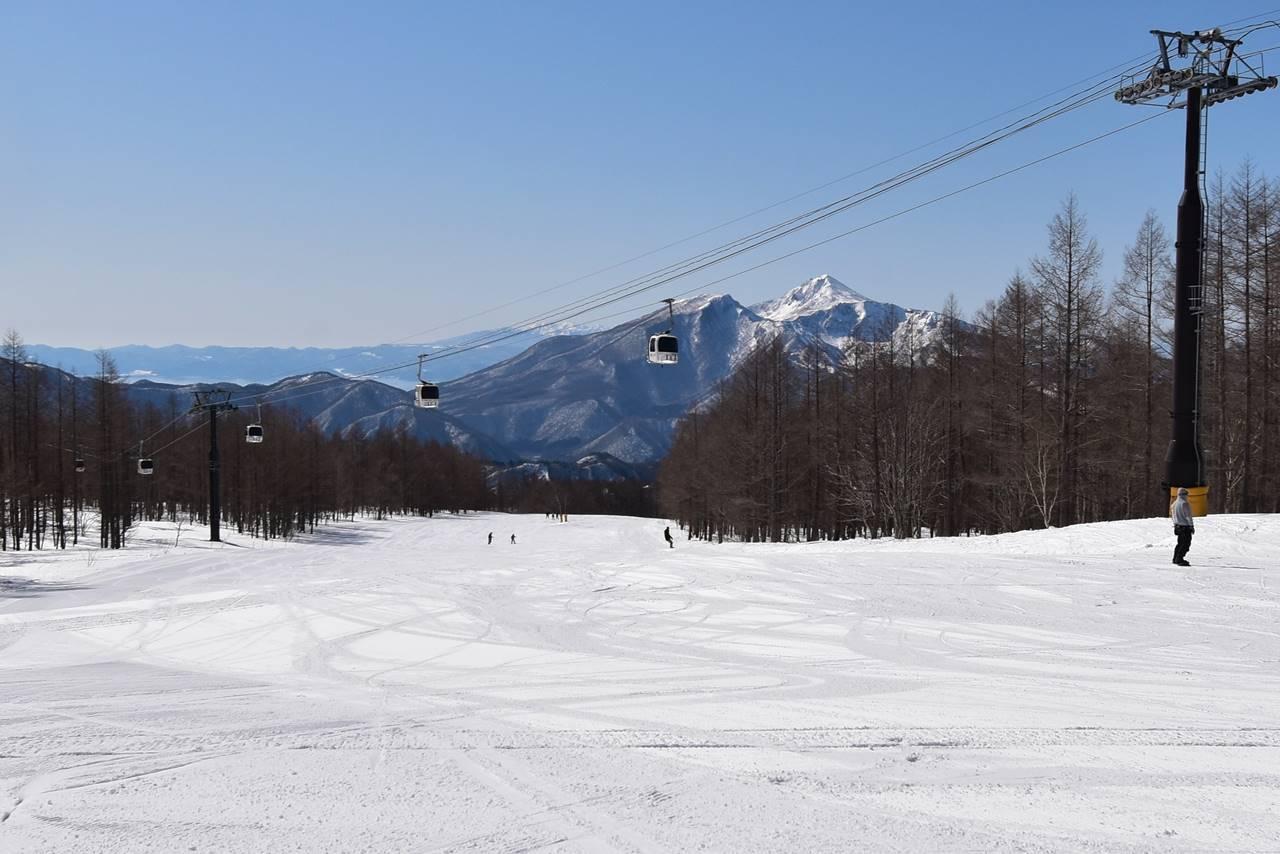 グランデコスキー場からの磐梯山
