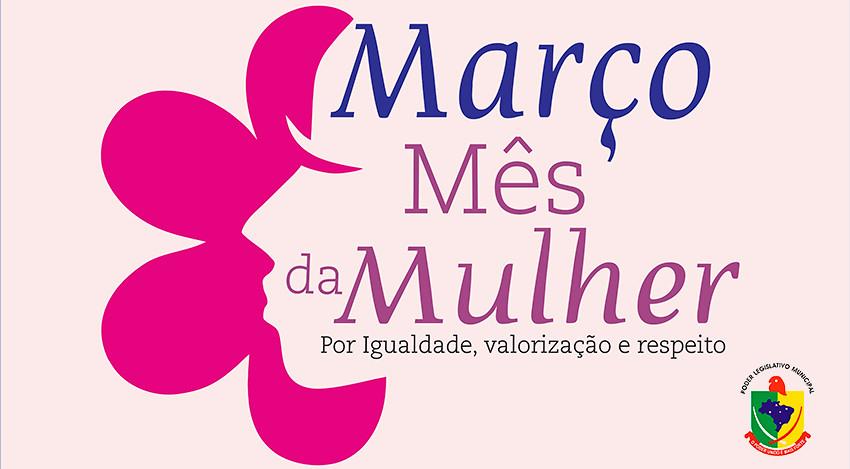 Março Mês das Mulheres.