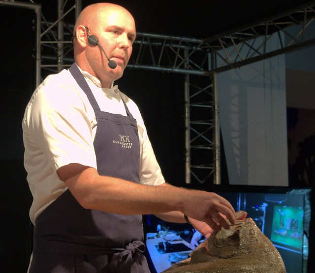 Chef Aiden Byrne cooking demo