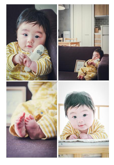 100日祝い記念の出張撮影 男の子赤ちゃん かわいいあんよ
