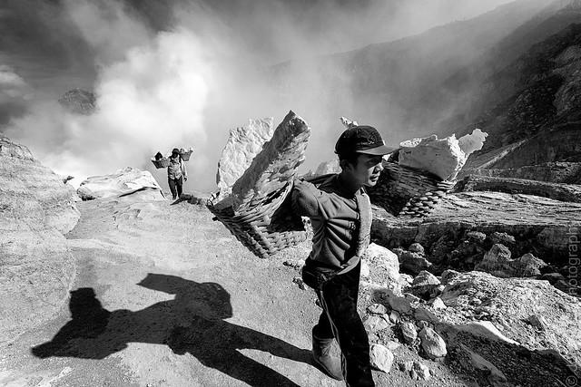 Sulfur miners of Ijen