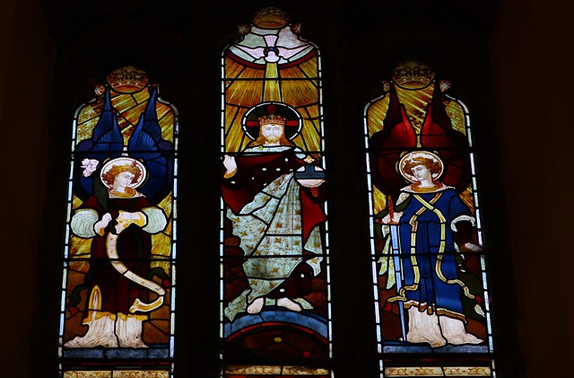 Stained Glass -St Dionysius Church - Market Harborough Leics -170819 (18)