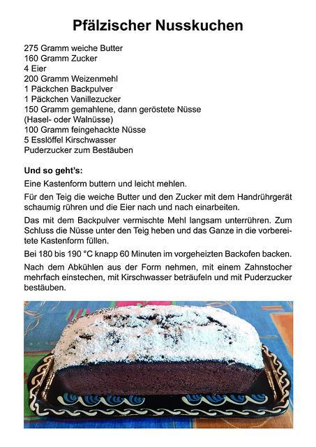 Rezept Pfälzer Nusskuchen - Brigitte Stolle