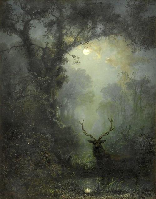 kruger, eugen - Hirsch im Wald