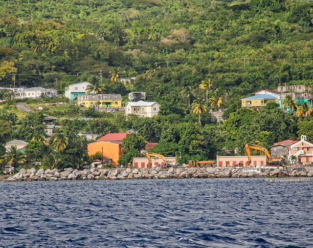 Shoring up the Atlantic Coastline in Sandy Point Town, Saint Kitts