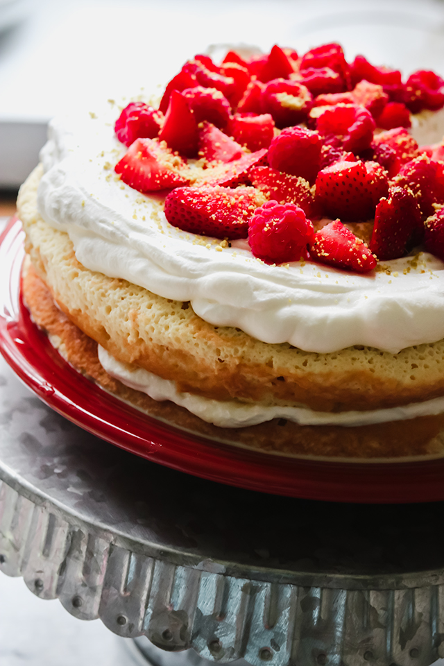 Berries and Cream Tres Leches Cake