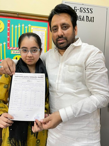 Amanatullah Khan with his daughter The Okhla Times