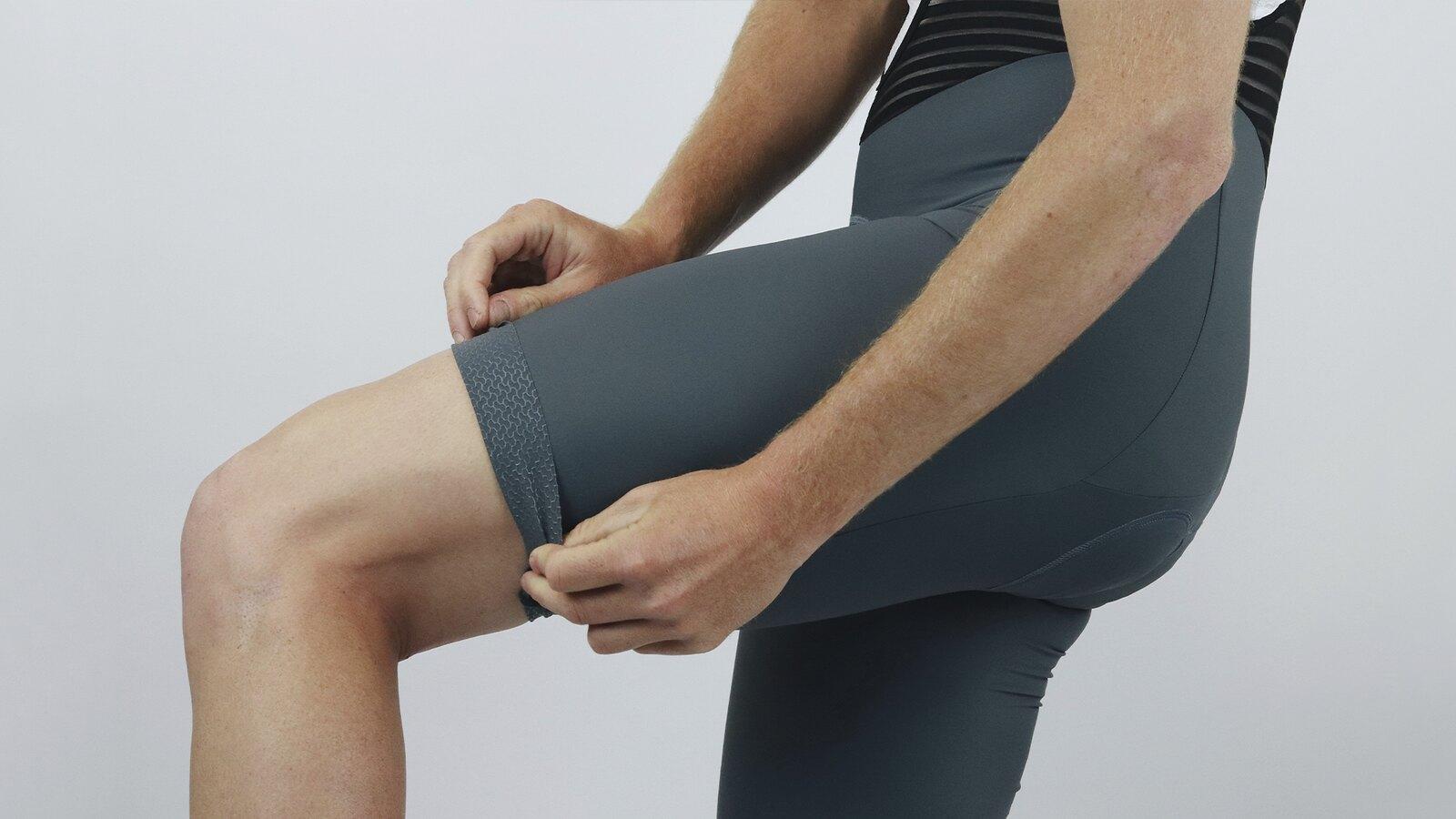 Men's Pro Skin Grey Bib Short