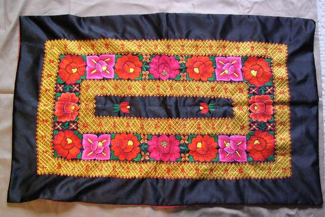 Zapotec Huipil Istmo Oaxaca Mexico Embroidery