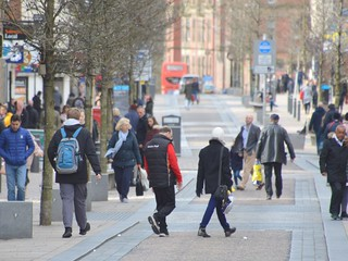 Pre-lockdown high street in Preston | by Tony Worrall