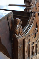 bench end: bird (15th century)