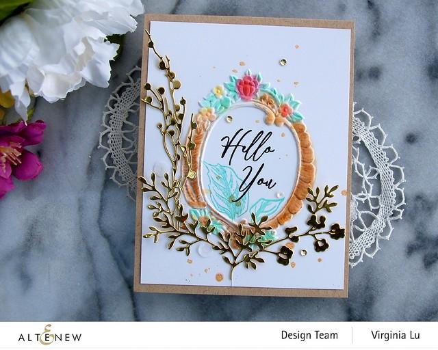 Altenew-Branches & Berries Die-Baroque Frame Embossing Folder-Vintage Garden Stamp Set -004