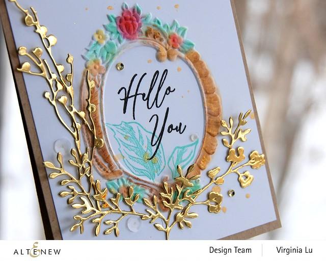 Altenew-Branches & Berries Die-Baroque Frame Embossing Folder-Vintage Garden Stamp Set -002