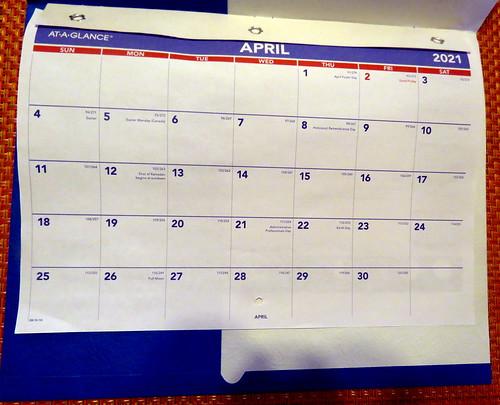 April 2021 Diary