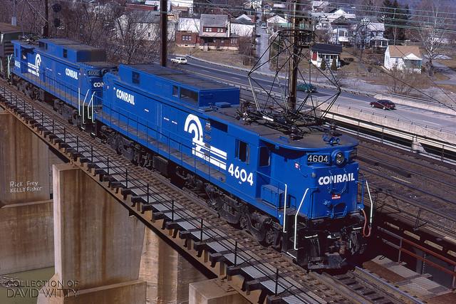 Conrail E33s Departing Enola