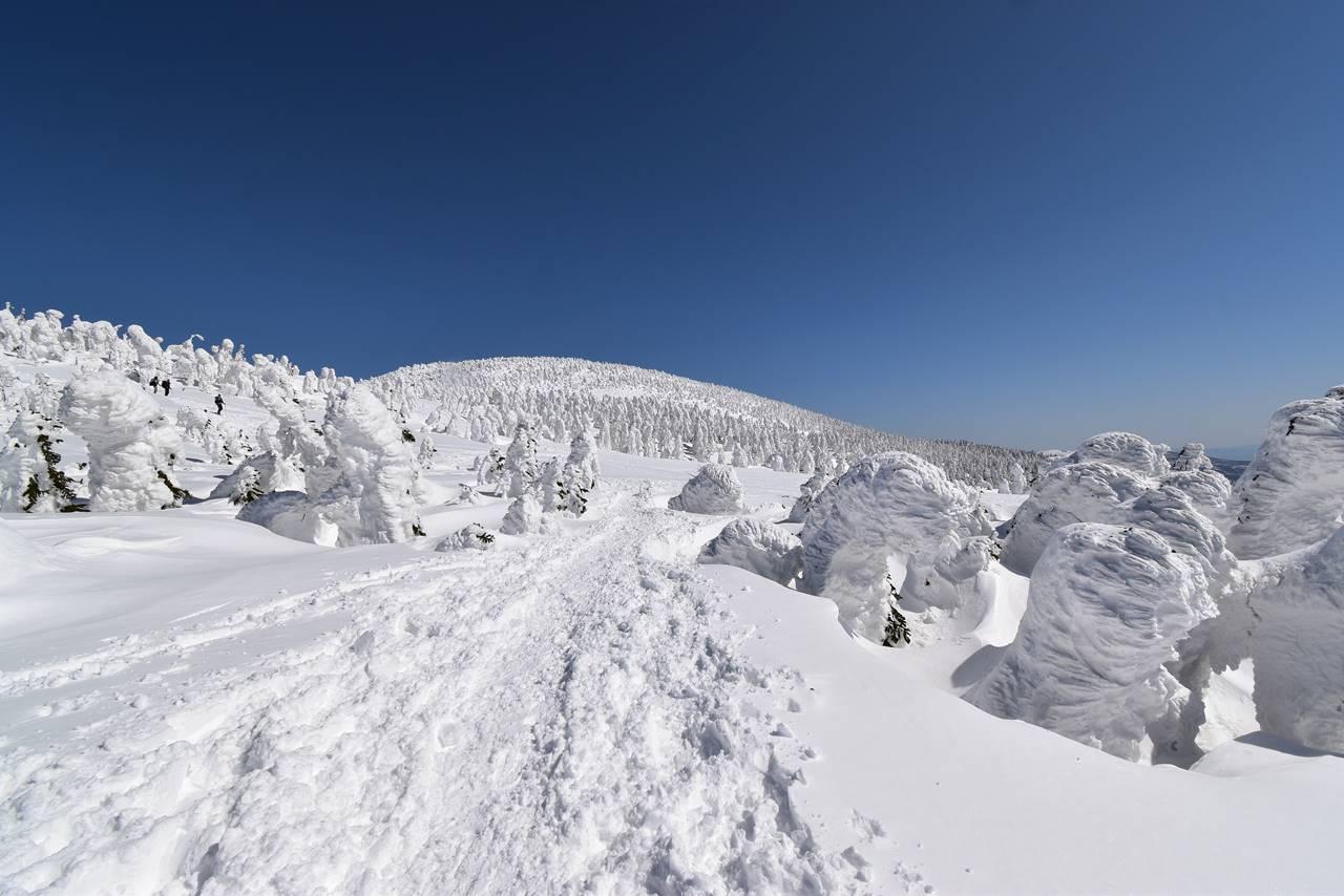 西吾妻山 広大な稜線を行くスノーシューハイク