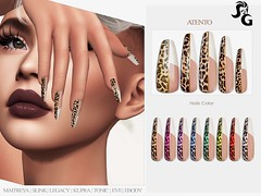 Atento Bento Mesh Nails @ Darkness Monthly
