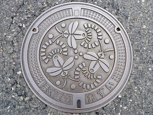 Hokubo Okayama, manhole cover (岡山県北房町のマンホール)