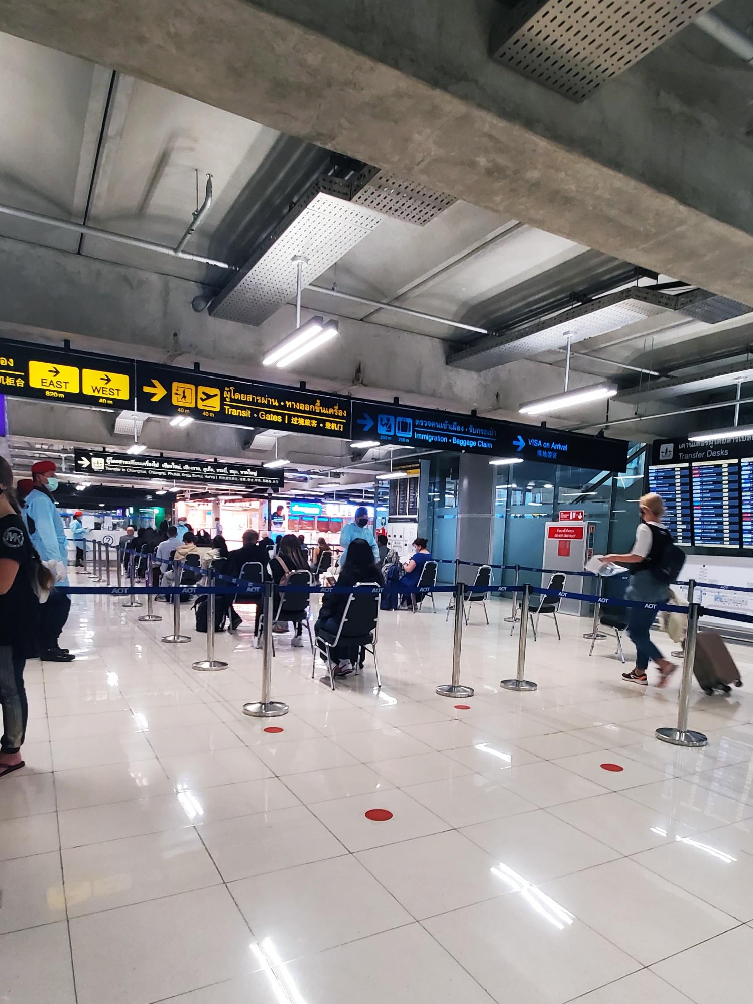 Bangkok airport covid