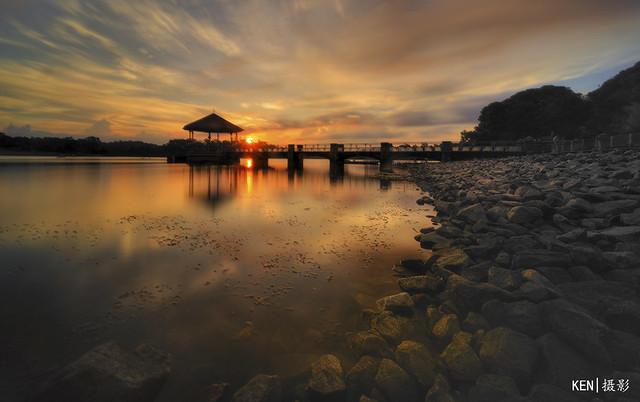 Lower Pierce Reservoir Sunset