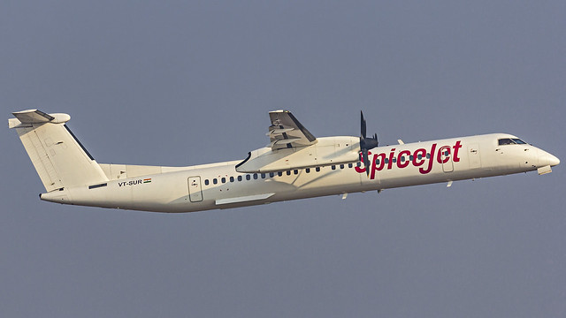 SpiceJet Bombardier (Mitsubishi) Q400 VT-SUR Bangalore (BLR/VOBL)