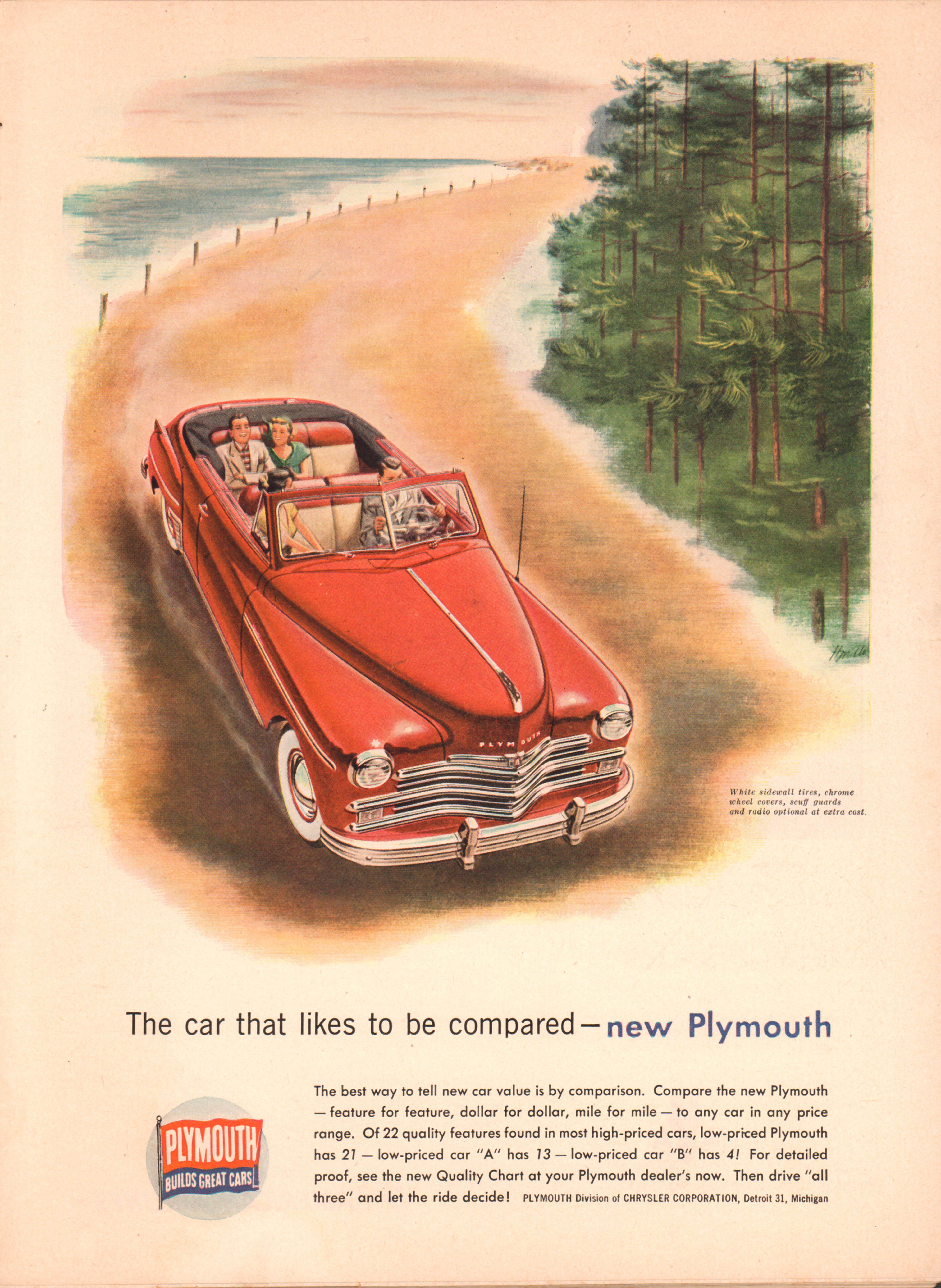1949 Plymouth - published in Time - July 18, 1949