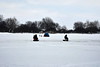 Ice Fishing Lake St. Clair