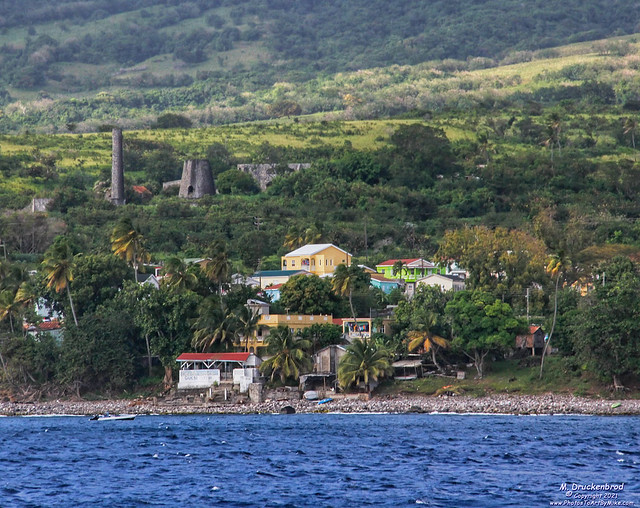Abandoned Sugar Cane Estate above Sandy Point Town in Saint Kitts