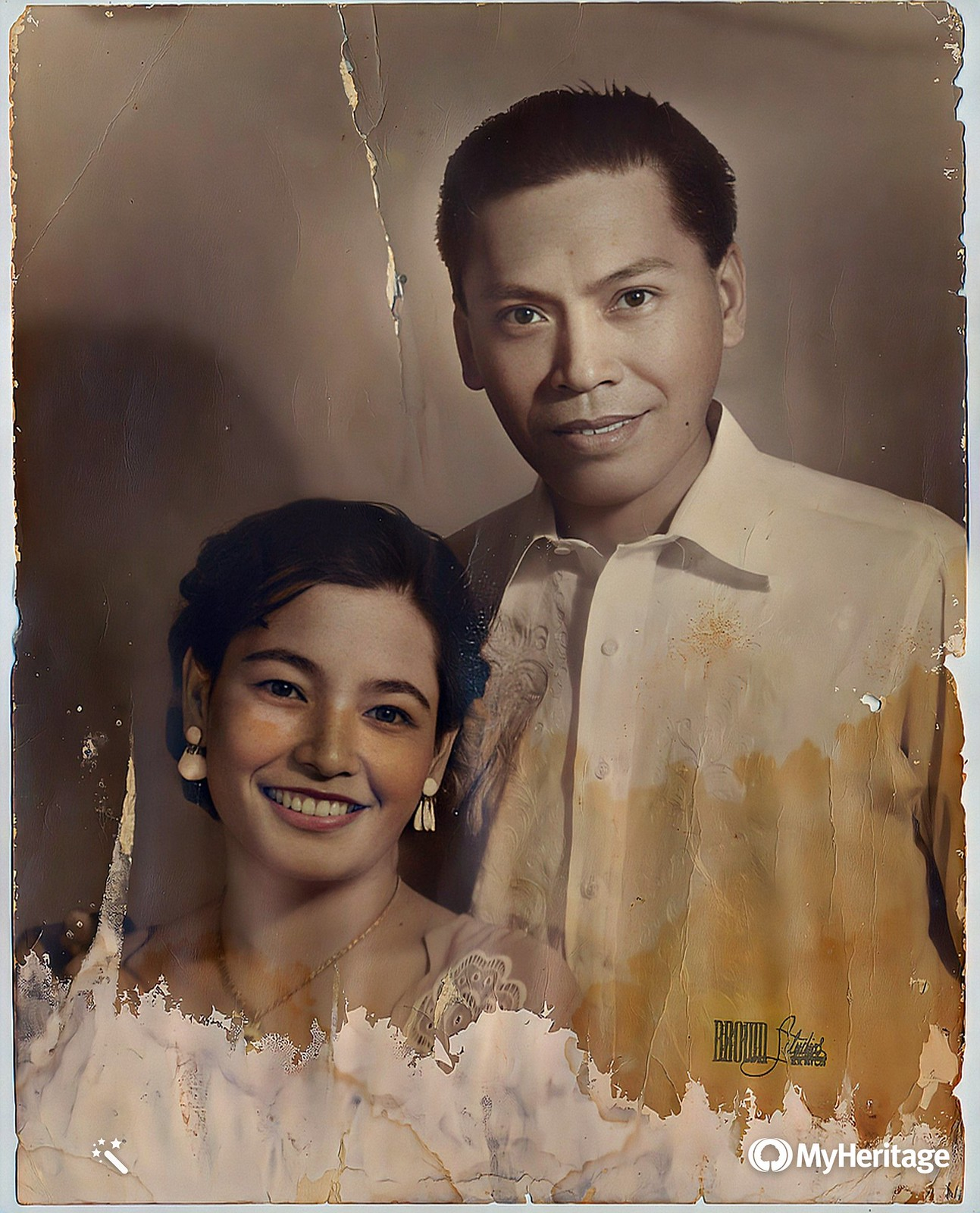 Nanay & Tatay Wedding Portrait - Enhanced